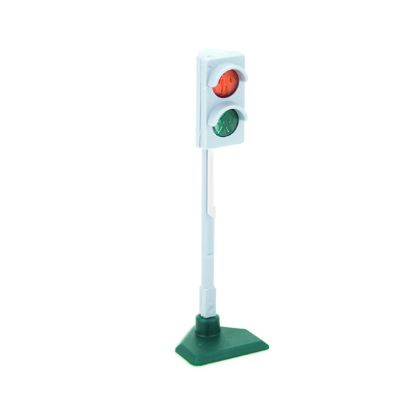 Grey pedestrian traffic light